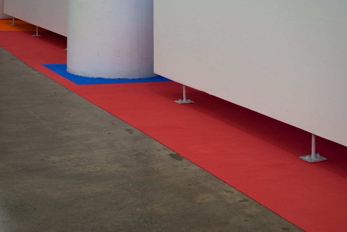 Ground work detail - left hand side of gallery